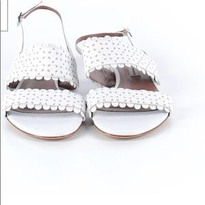 Tabitha Simmons Loopsie White Perforated Flats